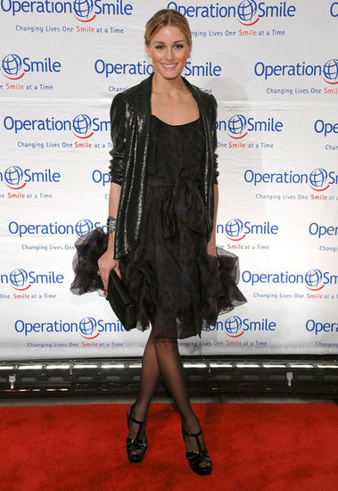 Fearlessly mixing print and sequins for an Operation Smile event in 2009.