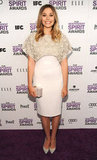 Elizabeth Olsen Brightly Steps Out For the Independent Spirit Awards