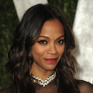 Zoe Saldana's Hair at the Oscars Afterparty 2012