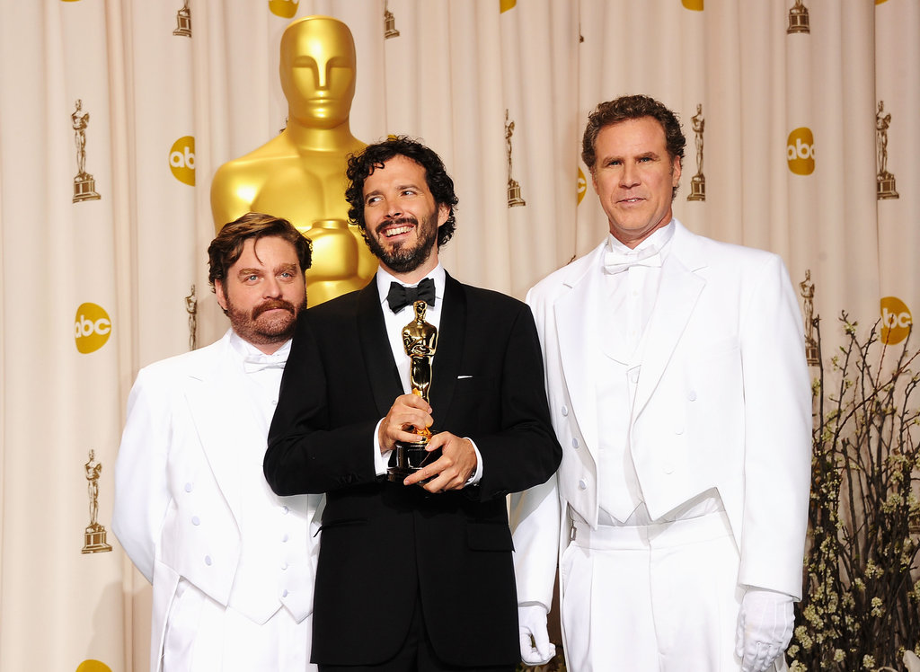 Zach Galifianakis, Bret McKenzie and Will Ferrell