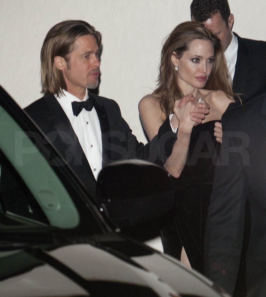 Angelina Jolie and Brad Pitt headed home after an Oscars party.
