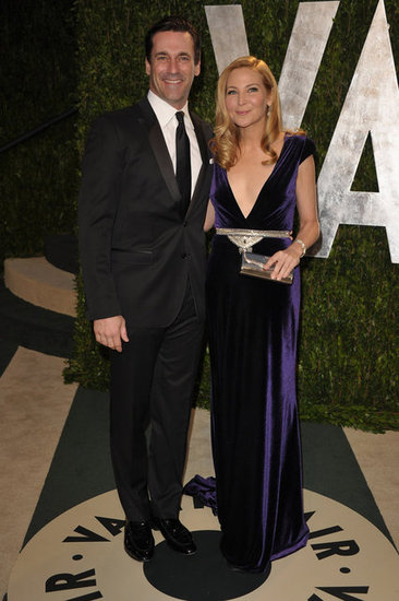 John Hamm and Jennifer Westfeldt strike a pose at the Vanity Fair party.