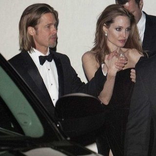 Angelina Jolie and Brad Pitt Pictures After Oscars 2012