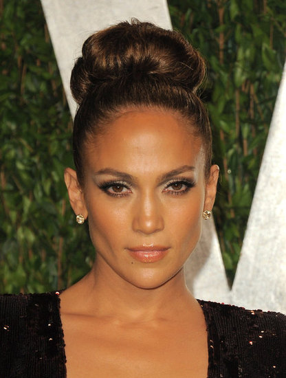 Jennifer Lopez up close at the Vanity Fair afterparty.