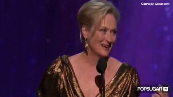 "Video: Best Actress Oscar Winner Meryl Streep Says ""Whatever"" to Fans Tired of Her Taking Home the Gold"