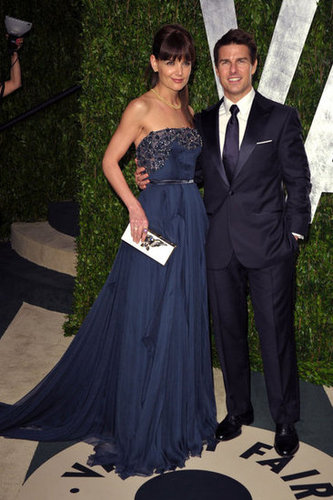 Katie Holmes and Tom Cruise at the Vanity Fair afterparty.