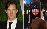 Benedict Cumberbatch Shows His Love For Britain, iPhones
