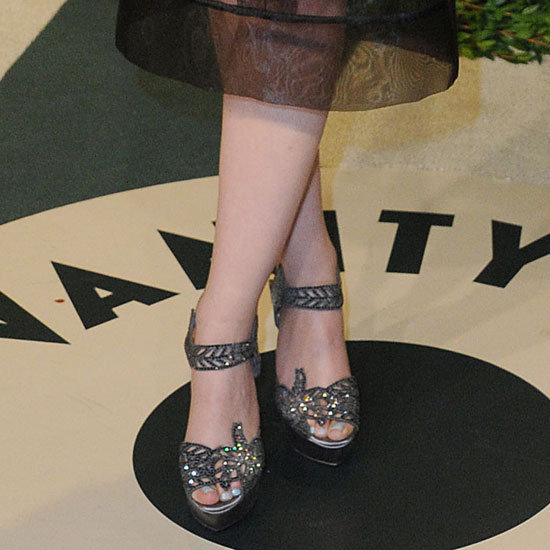 Ginnifer Goodwin showed off an ornate pair of heels.