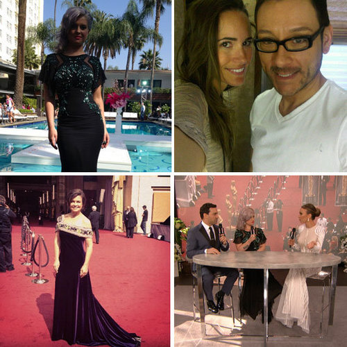 See all the Celebrity Twitter Pictures from the 2012 Oscars: Kelly Osbourne, Lisa Wilkinson, Louise Roe & More!