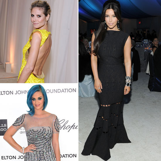 Elton John's 2012 Oscars Viewing Party: Celebrities Kim Kardashian, Ryan Kwanten, Heidi Klum, Katy Perry and More