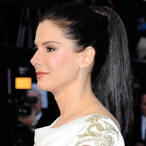 Hair How To: Recreate Sandra Bullocks Sleek High Ponytail from the 2012 Oscars