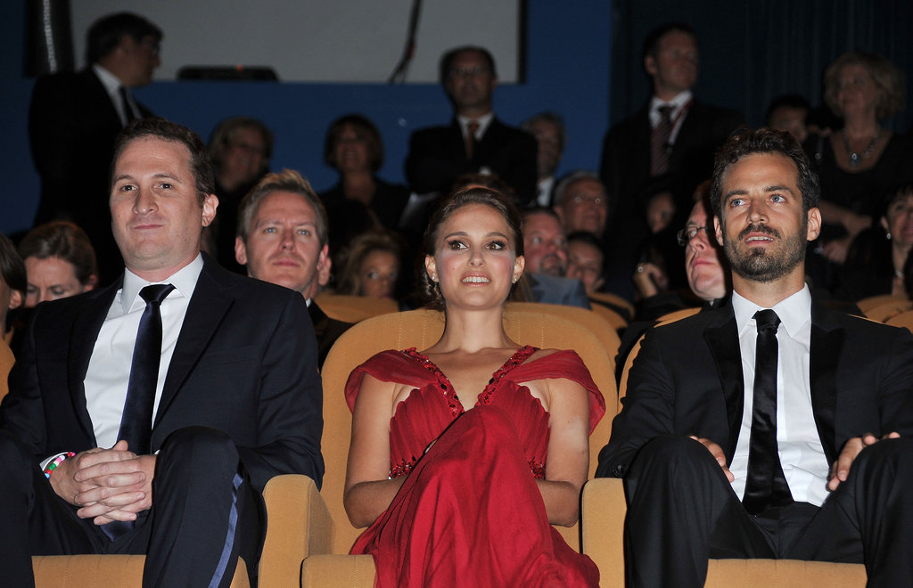Natalie Portman and Benjamin Millepied scored seats next to Darren Aronofksy at the Venice Film Festival opening ceremony in 2010.