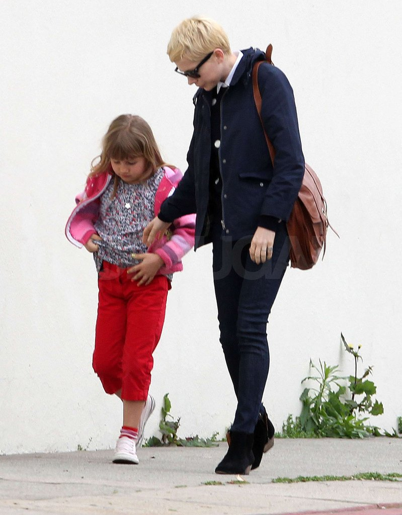 Michelle Williams walked with Matilda Ledger.