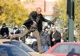 In 2006, Will Smith hopped between cars while filming I Am Legend in NYC.