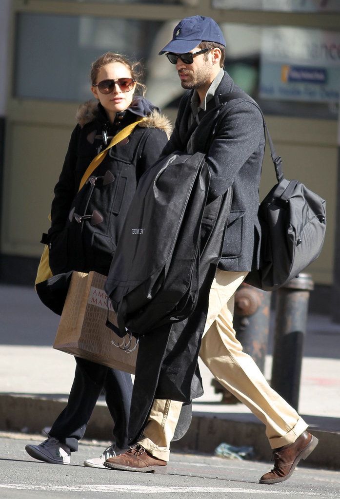 Pregnant Natalie Portman and Benjamin Millepied explored NYC together in 2011.