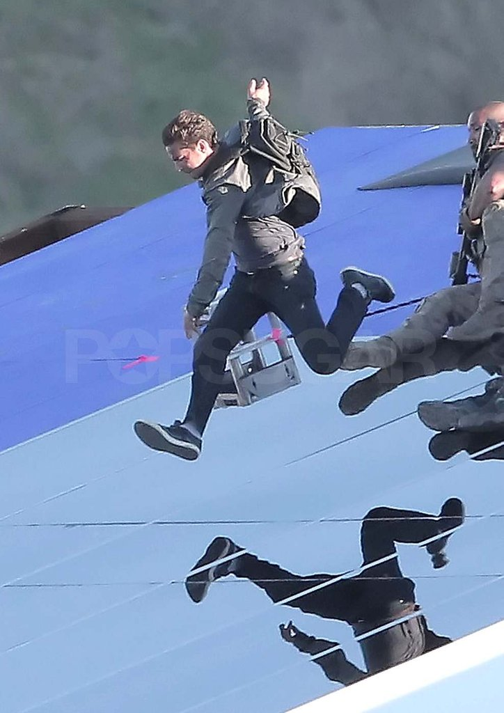 Shia LaBeouf hurdled across the LA set of Transformers in 2010.