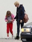 Michelle Williams picked up her daughter Matilda Ledger.