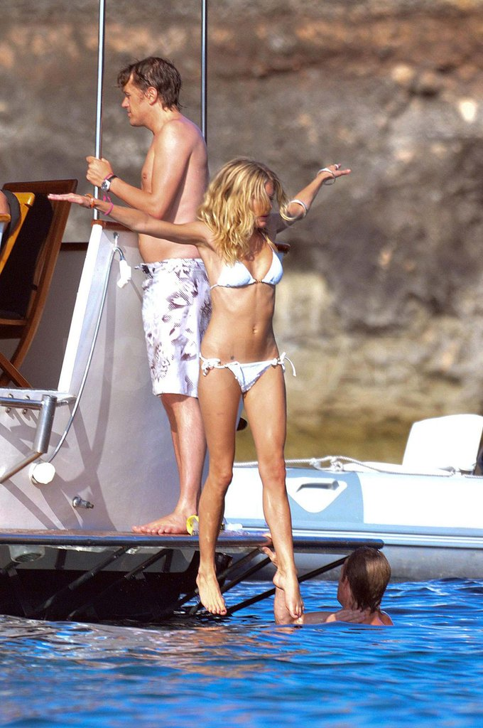 Sienna Miller hopped into the water in Ibiza while vacationing there in 2009.