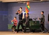 Harper Beckham Gets a Ride on David's Shoulders From a Birthday Bash