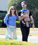 Natalie Portman and Benjamin Millepied took Aleph Millepied to the Huntington Library near LA in November 2011.