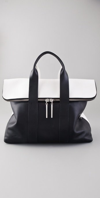 The sharp black and white contrast — and the spot-on minimal shape — make this a must-have for any no-frills girl. 3.1 Phillip Lim 31 Hour Bag ($795)