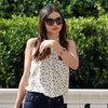 Miranda Kerr Wearing Equipment Blouse in LA Pictures
