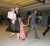 Nicole Kidman and Keith Urban traveled with their kids.
