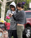 Selena Gomez and Justin Bieber spent a day grocery shopping in LA in January 2012.
