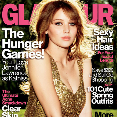 Jennifer Lawrence Pictures on Glamour April 2012