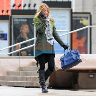 Blake Lively Pictures on Gossip Girl Set in NYC