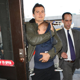 Orlando Bloom and Flynn Bloom at LAX Pictures
