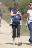Natalie Portman had Aleph Millipied cuddled close during a hike.