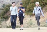 Natalie Portman was sporting her new diamond ring during a hike with Aleph Millepied.