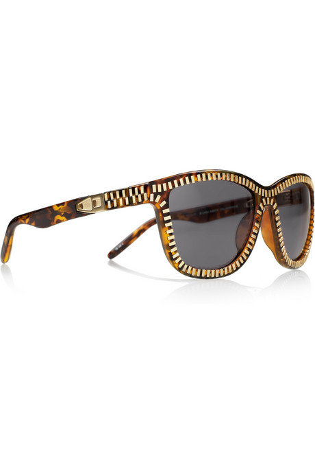 These zipper-embellished sunglasses are the ultimate cool-girl staple. We also love the tortoiseshell detail and classic silhouette.  Alexander Wang Zip-Effect Sunglasses ($390)