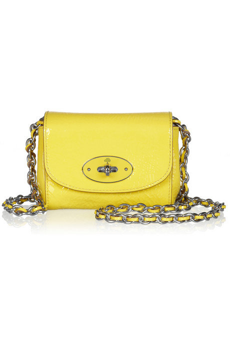 """I've been having a total yellow moment lately, and I can't get enough of this bright yellow chain-strap Mulberry bag. It's the easiest way to instantly perk up your outfit — and your mood!"" — Allison McNamara, host and producer, FabSugarTV Mulberry mini chain-strap bag ($435)"