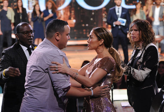 Jennifer Lopez hugged Jeremy Rosado on American Idol.
