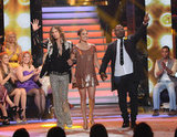 Jennifer Lopez, Randy Jackson, and Steven Tyler were together for American Idol stage.