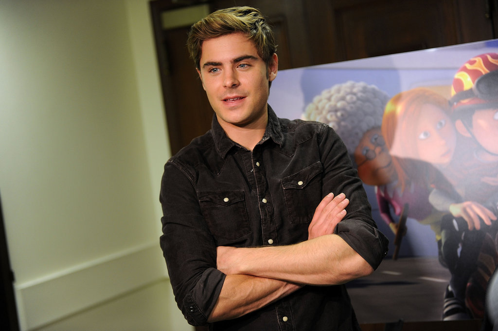 Zac Efron dressed casual for his latest appearance.