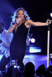 Mariah Carey sang for the first time since welcoming her twins.