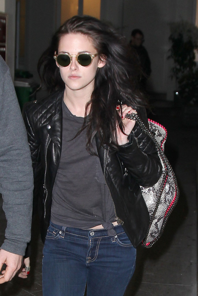 Kristen Stewart out in Paris.