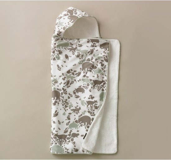 DwellStudio Woodland Tumble Hooded Towel ($52)