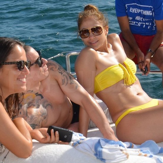 Jennifer Lopez wore a bikini with shirtless Casper Smart.