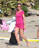 Heidi Klum stepped onto the sand.