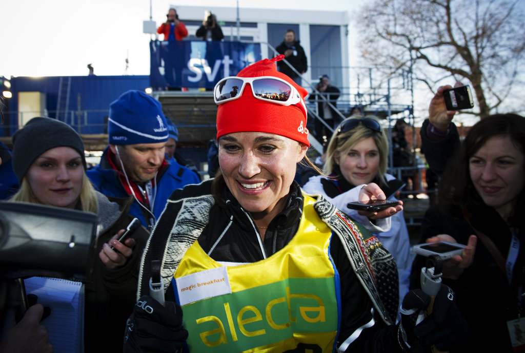 Pippa Middleton skied for charity.