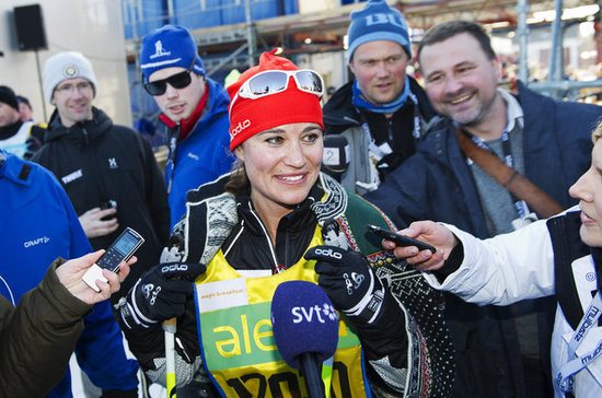 Pippa Middleton went cross-country skiing for charity.