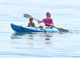 Heidi Klum paddled along with Henry Samuel.
