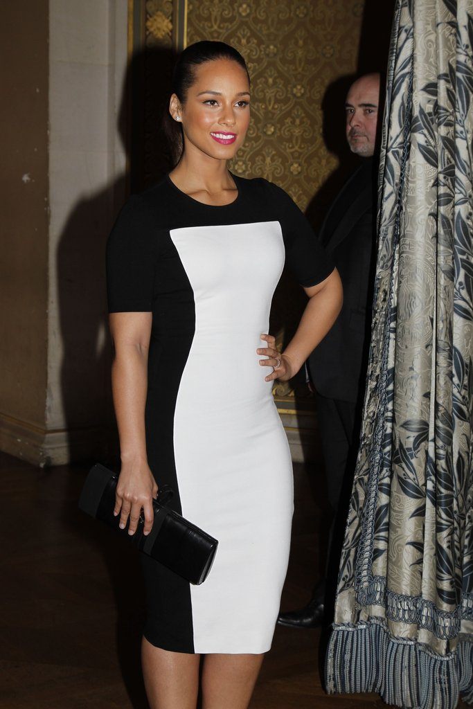Alicia Keys went to Paris Fashion Week.