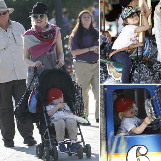 Gwen Stefani, Kingston, and Zuma Bring on the Fun at Knott's Berry Farm