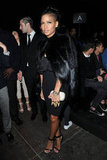 Cassie played up her tough edge with a slick fur coat and black cocktail dress at Givenchy.