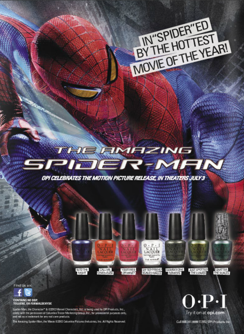 Spiderman nail polish by OPI